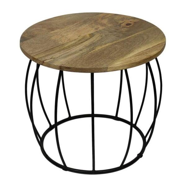 Crown kisasztal mangófa asztallappal, ⌀ 40 cm - HSM collection