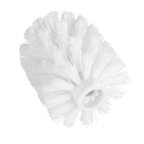 Bílá náhradní hlavice pro WC kartáč Wenko, ø7,5cm