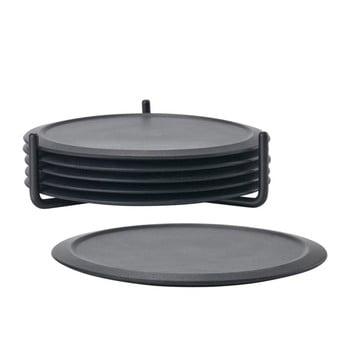 Set 6 suporturi cană cu stand Zone Singles, negru