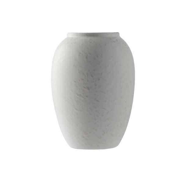 Krémová kameninová váza Bitz Basics Matte Cream, výška 20 cm
