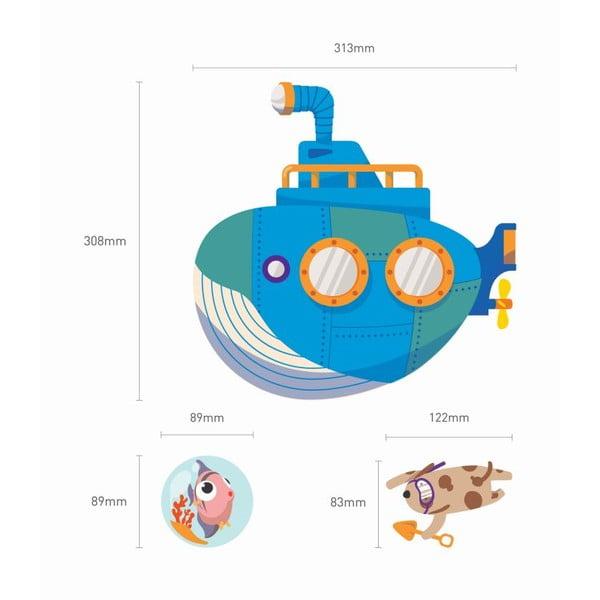 Sada samolepek Ambiance Octopus and Submarine