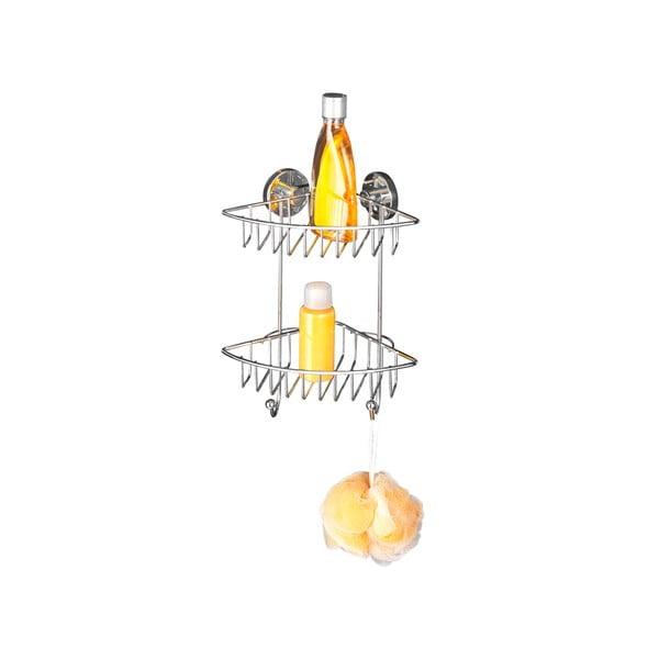 Raft dublu autoadeziv pentru colț Wenko cu sistem de prindere Vacuum-Loc, până la 33 kg