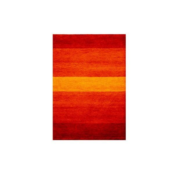 Vlněný koberec Baku Stripe Red, 170x240 cm