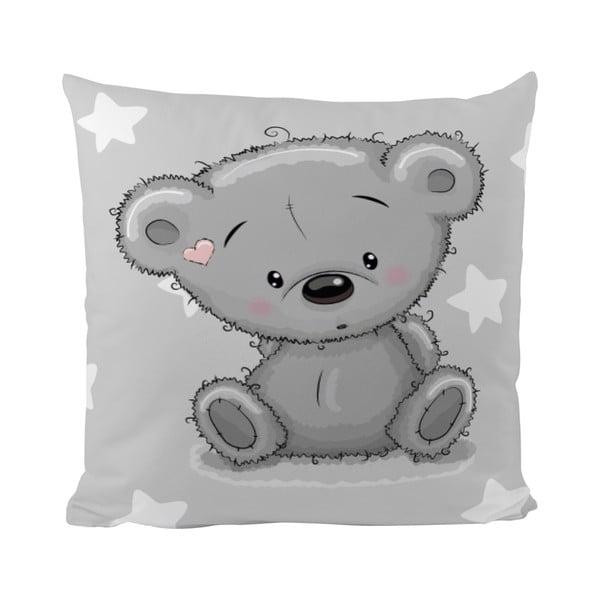 Polštář Mr. Little Fox Grey Teddy, 50x50cm
