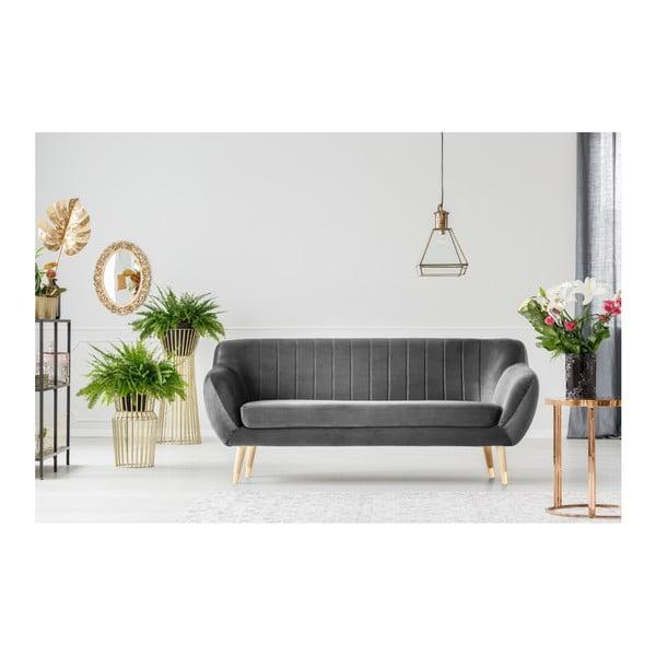 Canapea cu 3 locuri Mazzini Sofas Benito, gri