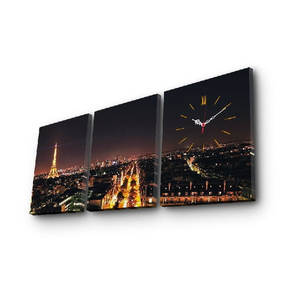 Ceas de perete cu imagine Paříž, 96 x 40 cm