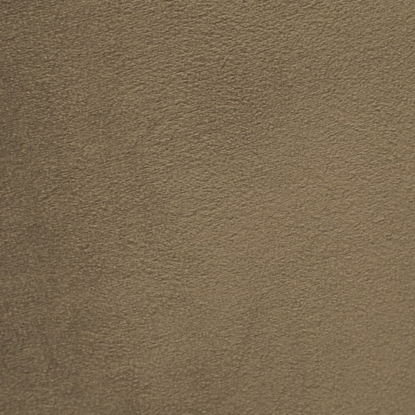 Šedohnědé křeslo a podnožka s podnoží v přírodní barvě Vivonita Cora Velvet