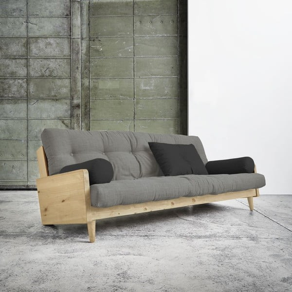 Indie Natural/Granite Grey/Dark Grey kinyitható kanapé - Karup