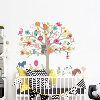 Set autocolante de perete pentru camera copiilor Ambiance Scandinavian Tree imagine