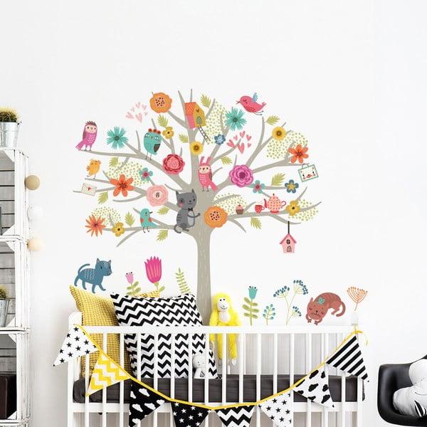 Set autocolante de perete pentru camera copiilor Ambiance Scandinavian Tree