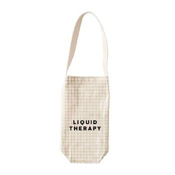 Husă pentru sticla de vin sau șampanie Linen Liquid Therapy, înălțime 30 cm imagine