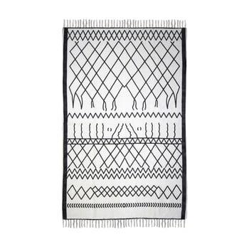 Covor din bumbac HSM collection Colorful Living Garrio, 60 x 90 cm, negru alb poza