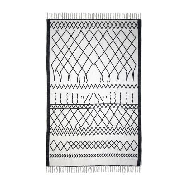 Černobílý bavlněný koberec HSM collection Colorful Living Garrio, 120 x 180 cm