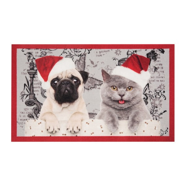 Preș Zala Living Christmas Cat and Dogs, 45 x 75 cm