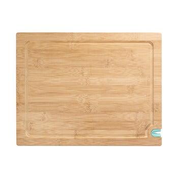 Tocător din lemn de bambus cu ascuțitor pentru cuțit , 36 x 28 cm. imagine