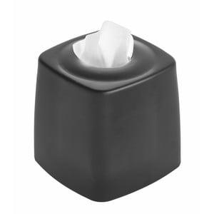 Černý box na kapesníčky iDesign Austin