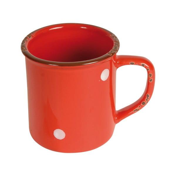 Červený keramický hrnek Antic Line Cup Red, výška 9,5 cm