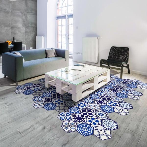 Zestaw 10 naklejek na podłogę Ambiance Floor Stickers Hexagons Jena, 40x90 cm