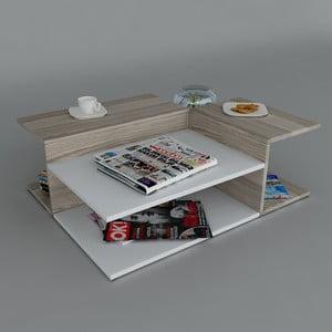 Konferenční stolek Friend Coffee White/Cordoba, 95x31,8x75 cm