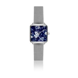 Dámské hodinky s páskem z nerezové oceli ve stříbrné barvě Emily Westwood Square