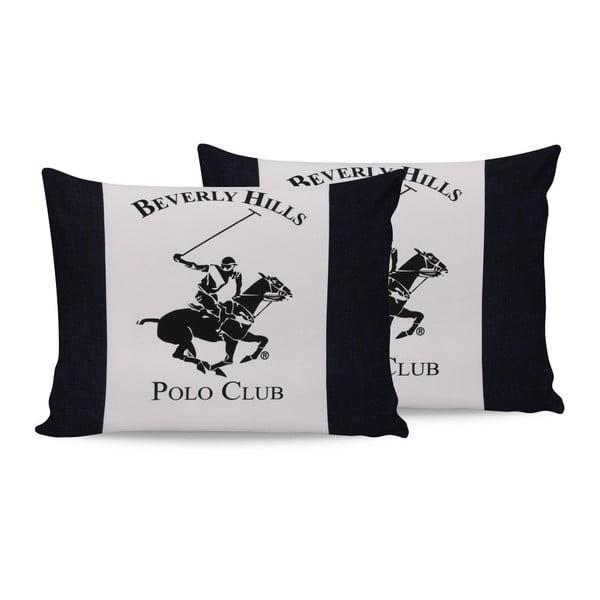 Set 2 fețe de pernă din bumbac Polo Club Dark,50x70cm