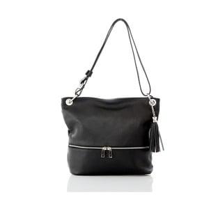 Černá kožená kabelka Glorious Black Joanny