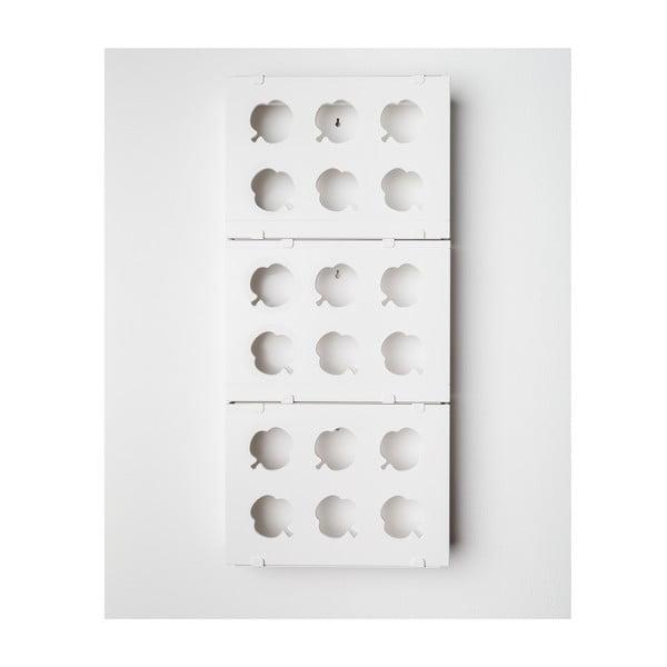 Vertikální květináč HOH! Trio Bianco, 38x83 cm