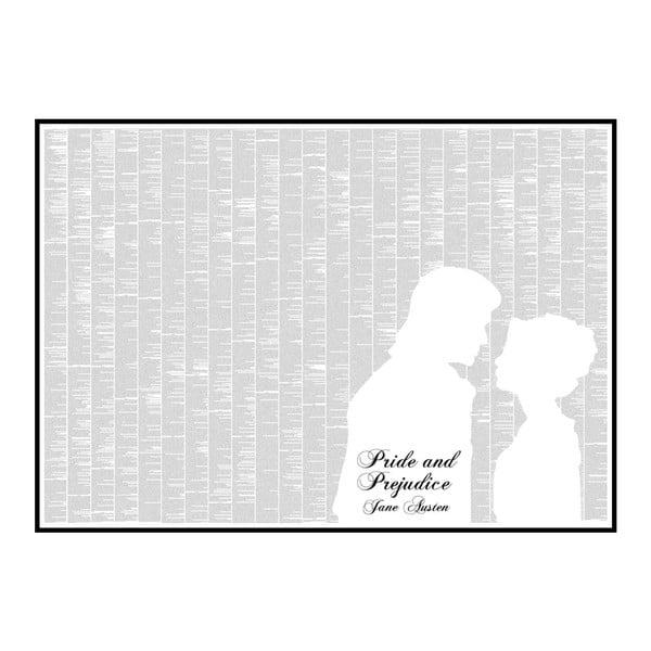 Knižní plakát Pýcha a předsudek, 118,9x84,1 cm