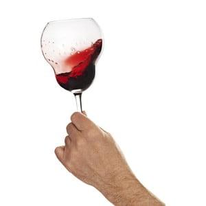 Sklenice na červené víno Bubblan, 4ks