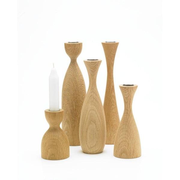 Svícen Asta z kolekce Oak sisters, světlé dřevo