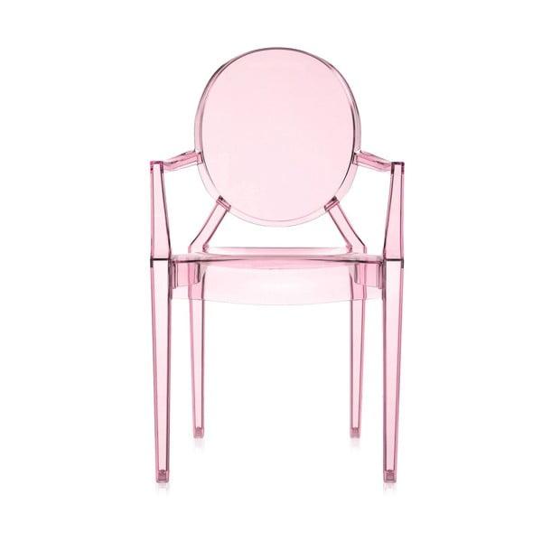 Židle Kartell Lou Lou Ghost, růžová
