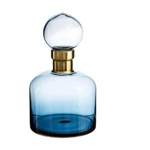 Modrá dekorativní lahev Denzzo Saulo, výška26,5cm