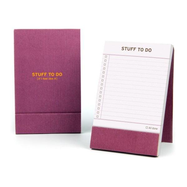 Zápisník Stuff To Do