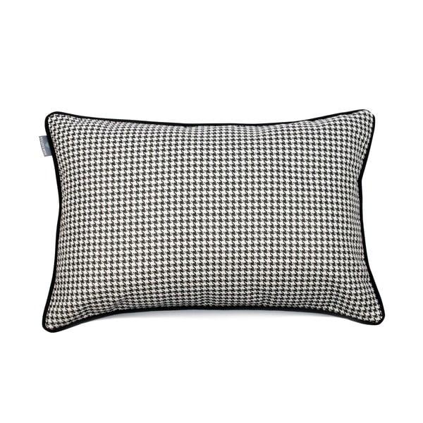 Czarno-biała poszewka na poduszkę WeLoveBeds Check, 40x60 cm