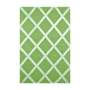 Zelený oboustranný venkovní koberec Green Decore Diamond, 90 x 150 cm