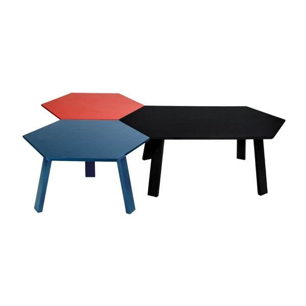 Konferenční stolek Hexagon Dark Greye, 105x37x61 cm