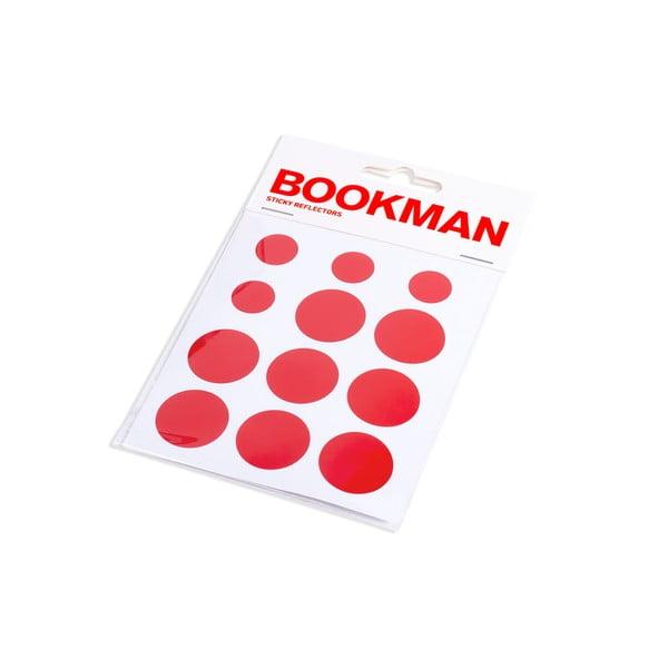 Dárkový set Bookman Red - blatník, blikačka, držák na kelímek, píšťalka a odrazka