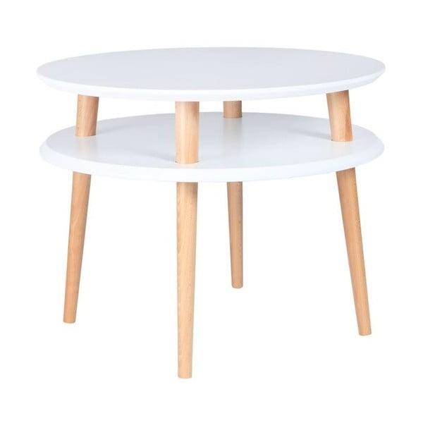 Konferenční stolek UFO 45x57 cm, bílý