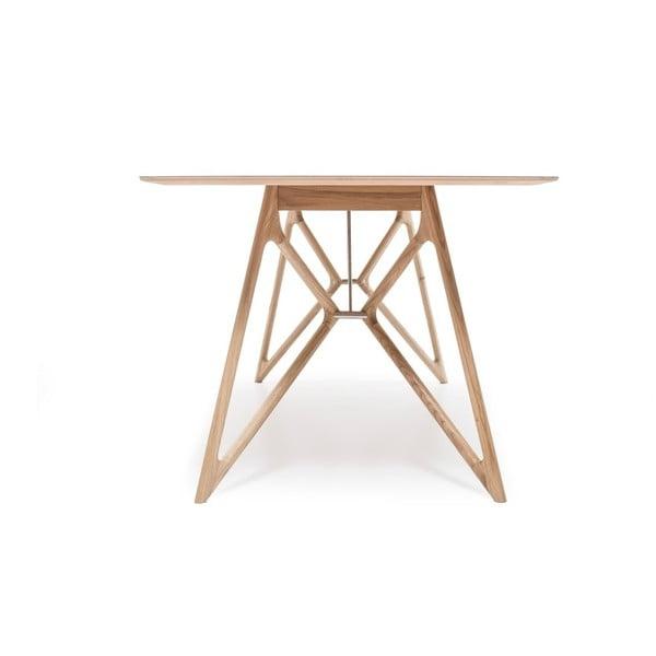 Černý jídelní stůl z dubového dřeva Gazzda, 200cm