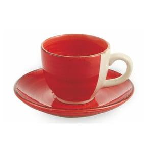 Sada 6 červených šálků na espresso s podšálkem Villa d'Este Baita, 90ml