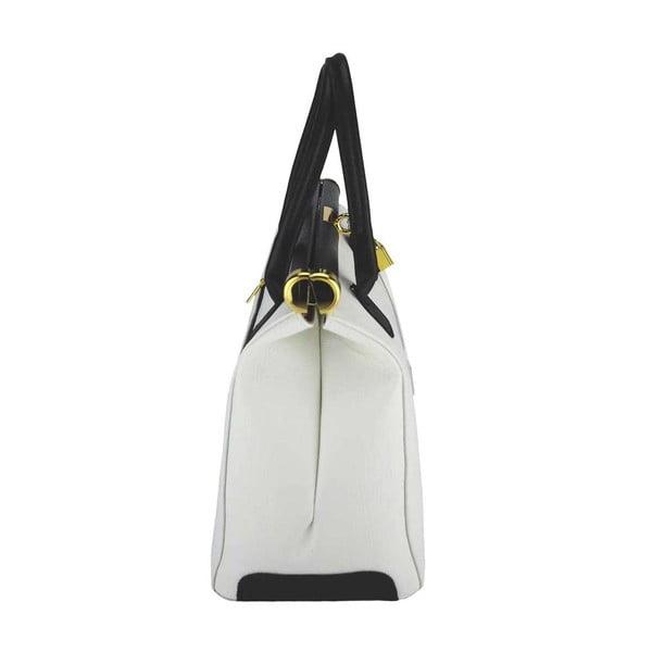 Kožená kabelka Bast Cream & Black