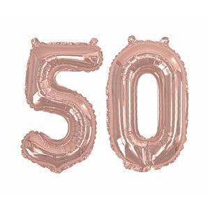 Balónek s číslem 50 Neviti Rose Gold