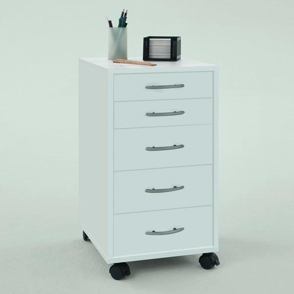 Kancelářské zásuvky Freddy, bílé