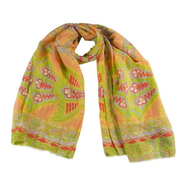 Šátek s příměsí hedvábí Shirin Sehan Gina Coral