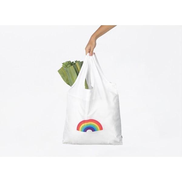 Sacoșă pentru cumpărături DOIY Rainbow, alb