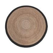 Jutový koberec s černým okrajem LABEL51 Rug, ⌀180 cm