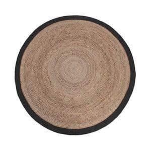 Covor de iută cu margine neagră LABEL51 Rug, Ø 150 cm
