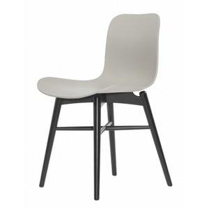 Šedá  jídelní židle z masivního bukového dřeva NORR11 Langue Stained