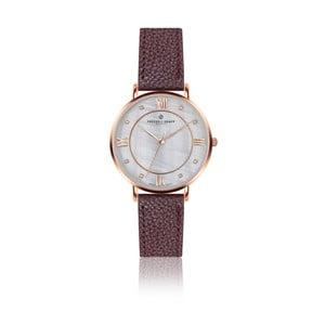 Dámské hodinky s hnědým páskem z pravé kůže Frederic Graff Rose Liskamm Lychee Bordeaux Leather