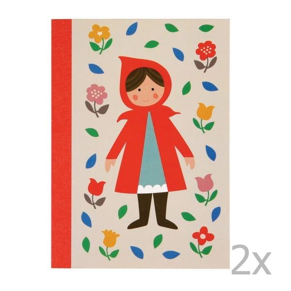 Red Riding Hood vonalas füzet, 2 db - Rex London